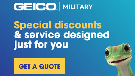 Geico Military: Special discounts & service designed just for you. [Button: Get a Quote]
