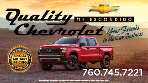 Quality Chevrolet. Your friends in the car business. (760)745-7221