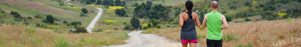 two runners racing outdoors in the camp pendleton race series