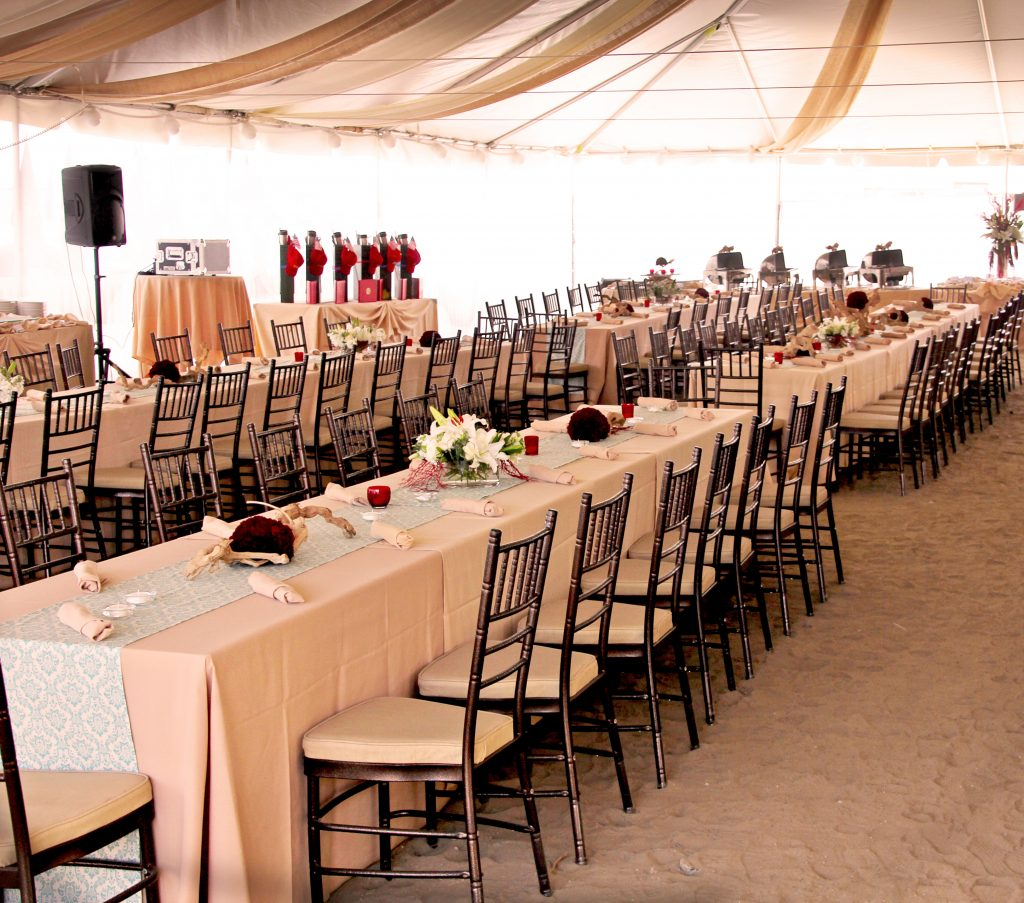 Del Mar Beach Event under Tent