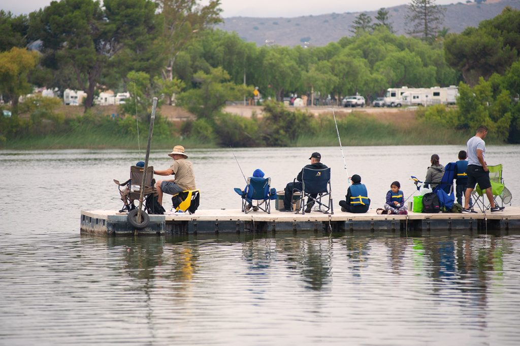 Lake Oneill Fishing Derby families on dock