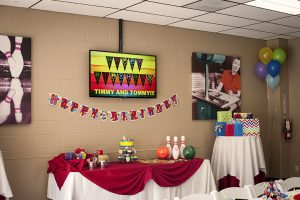 Leatherneck Lanes birthday party room