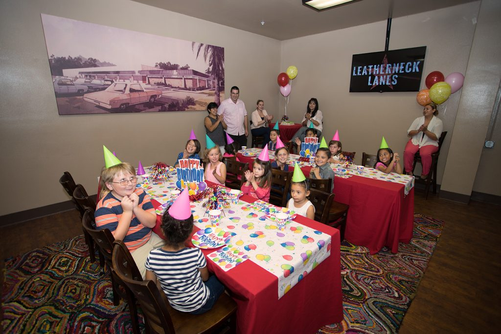 Leatherneck Lanes party room birthday