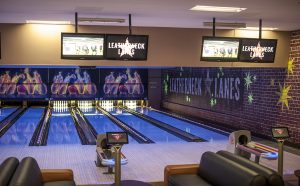 Leatherneck Lanes bowling lanes wall