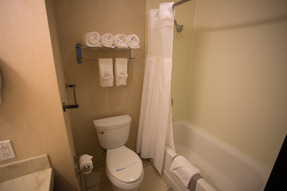 Pacific Views Lodge Deluxe room bathroom