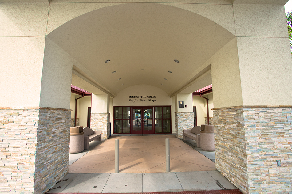 Pacific Views Lodge exterior entrance