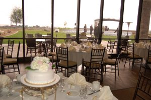 Pacific Views wedding reception tables
