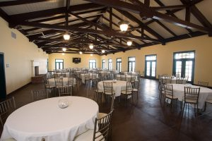 san onofre beach house event hall with tables