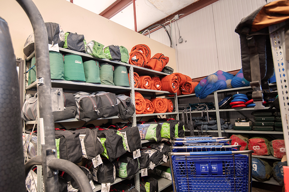 rec checkout stored sleeping bags