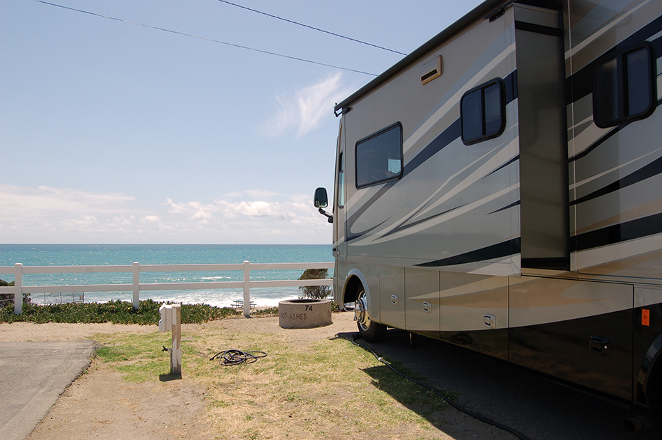 san onofre beach RV camping view of ocean