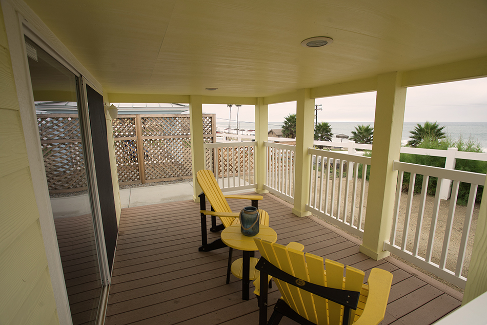 san onofre beach cottages patio