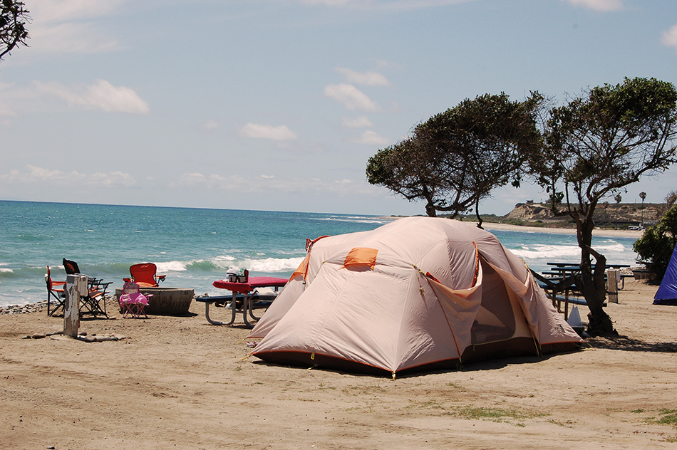 san onofre beach tent camping