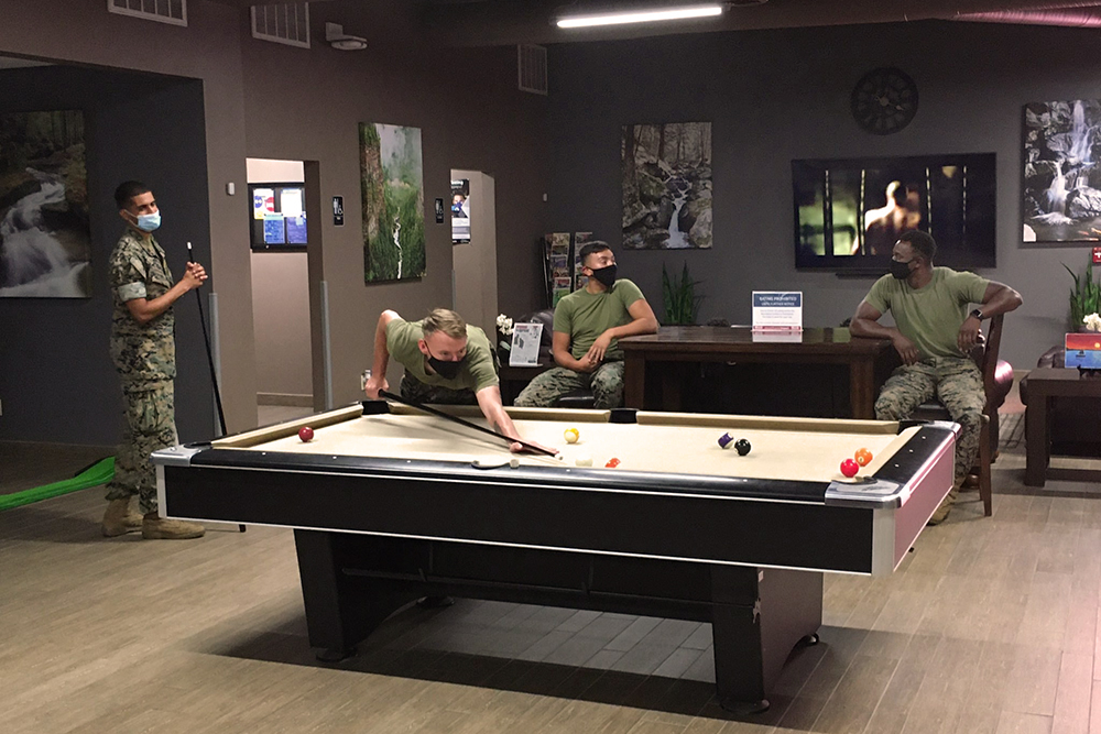 Single Marine Program pool table