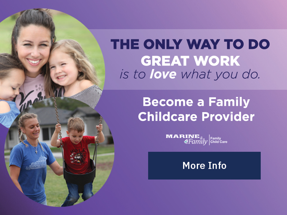 Become a Family Childcare Provider; Button: More Info