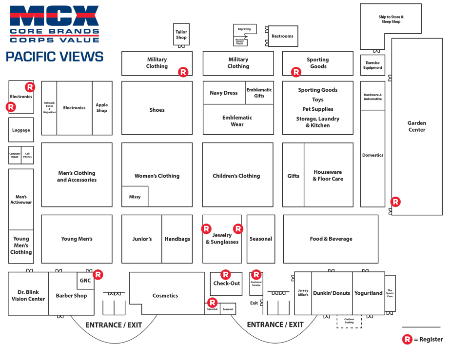 Pacific Views MCX Store Map
